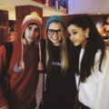 jai brooks and ariana grande with their fans ♥♥ - janoskians photo