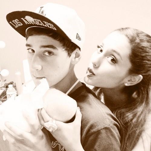 jai brooks and his girlfriend ariana grande ♥♥