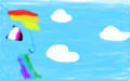 my first darwing of rainbow dash as a pony! - my-little-pony-friendship-is-magic fan art