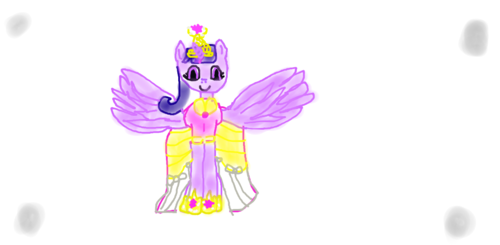 my first drawing of princess twilight sparkle!
