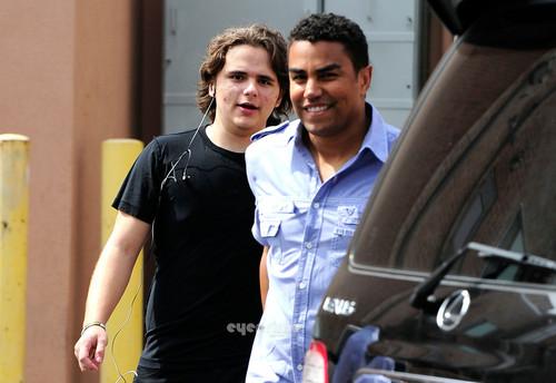 prince jackson and his cousin tj jackson in calabasas :) march 2013
