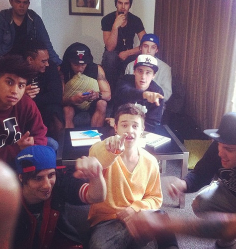 reece mastin and justice crew boys with the janoskians boys ♥♥