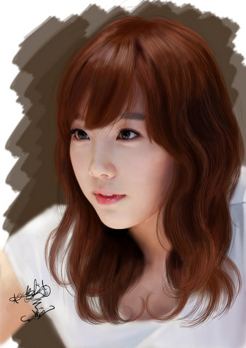 taeyeon (snsd) wallpaper with a portrait entitled taeyeon