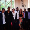 the jacksons with the janoskians boys beau brooks and jai brooks and estelle landy from big brother - michael-jackson photo