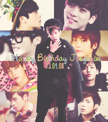 Shinee images ♥Happy Birthday Jonghyun!~♥ wallpaper and ...   446 x 500 png 1264kB