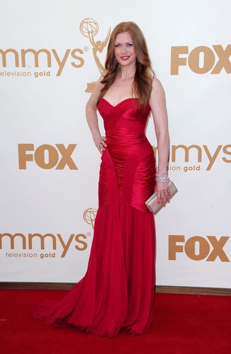 Mireille Enos arrives at the 63rd Annual Primetime Emmy Awards