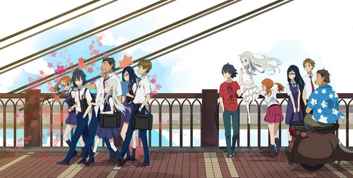 AnoHana wallpaper entitled =)