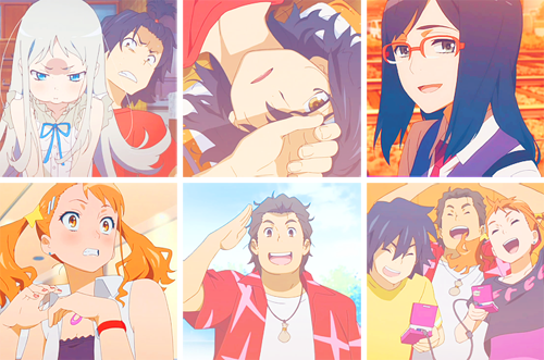AnoHana wallpaper probably containing anime titled =)