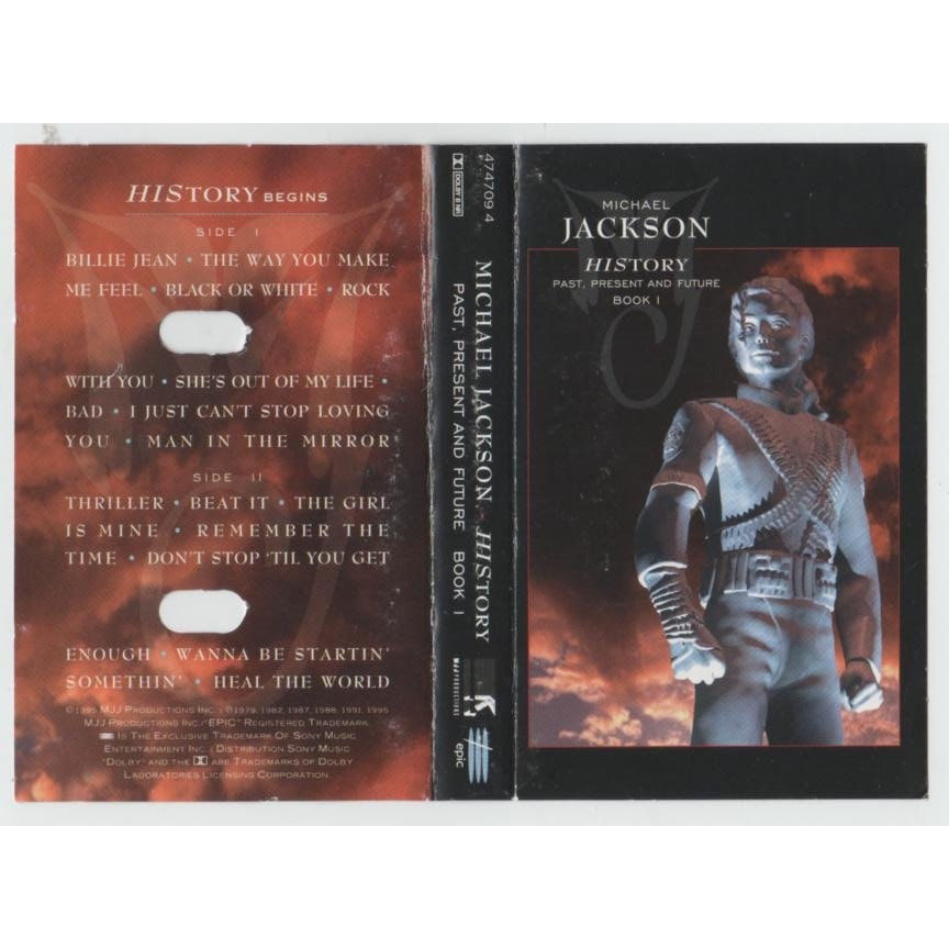 """1995 Epic Release, """"History"""" Cassette Cover"""