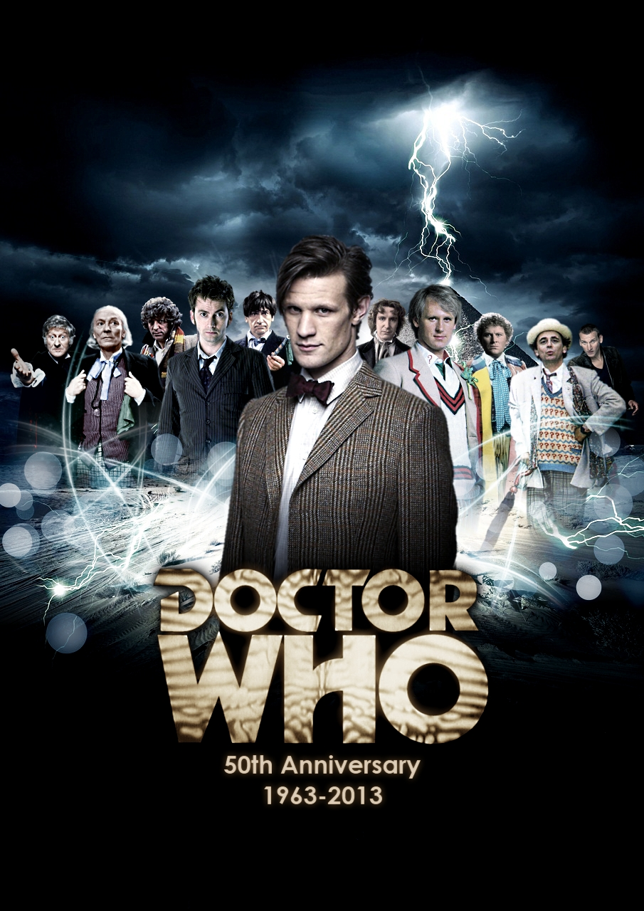 Th anniversary posters of doctor who