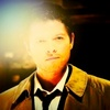 Castiel photo probably with a portrait entitled Abandon All Hope