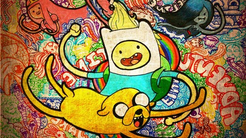अड्वेंचर टाइम वित फिन आंड जेक वॉलपेपर containing ऐनीमे entitled Adventure Time