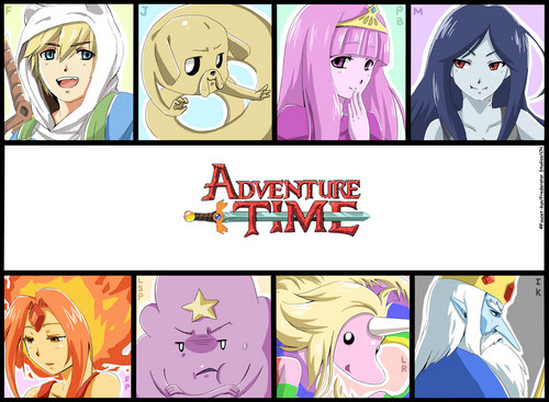 Adventure Time With Finn and Jake wallpaper containing anime entitled Adventure time Anime style