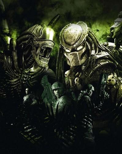 Alien vs Predator Green back