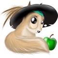 Anya with Barbossa's hat and green apple XD - fans-of-pom photo