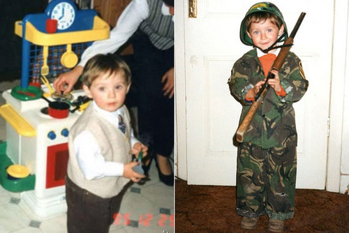 Niall Horan wolpeyper containing a green beret, a rifleman, and panlabang uniporme titled Baby Niall
