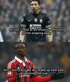 Ballotelli and buffon - ac-milan photo