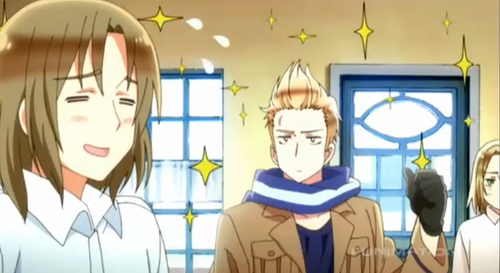 Hetalia پیپر وال containing a stained glass window and عملی حکمت titled Beautiful World, episode 9