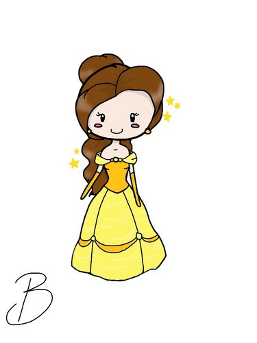 how to draw chibi beauty and the beast