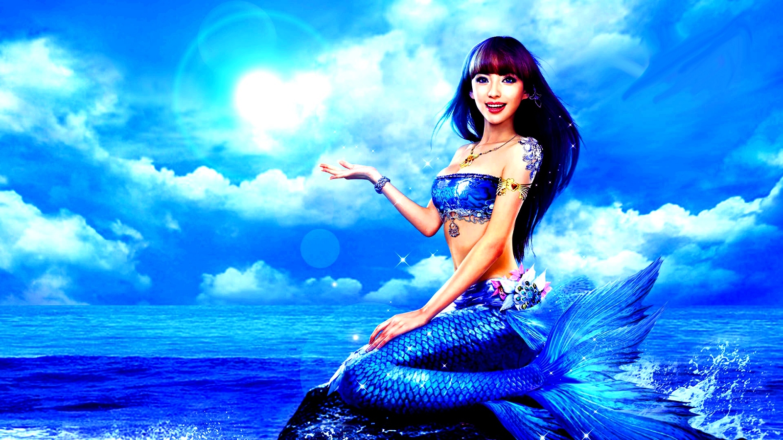 Blue Mermaid - Mermaids Wallpaper (34153261) - Fanpop fanclubs