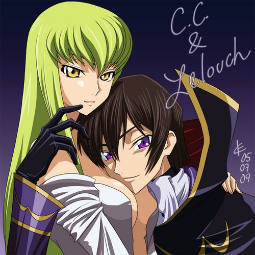 C.C and Lelouch