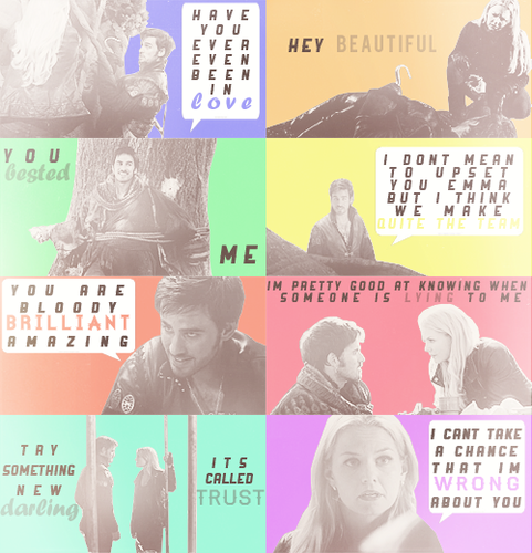 Captain Hook and Emma Swan wallpaper titled Captain Swan + quotes