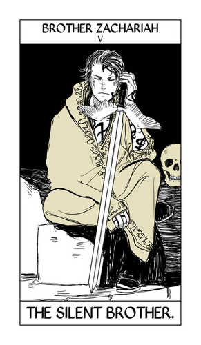 Cassandra Jean's Tarot Cards: Brother Zachariah {The Silent Brother}.