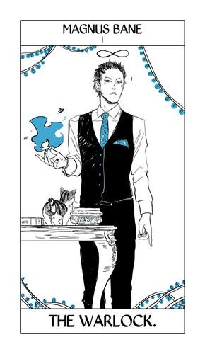 Cassandra Jean's Tarot Cards: Magnus Bane {The Warlock}.