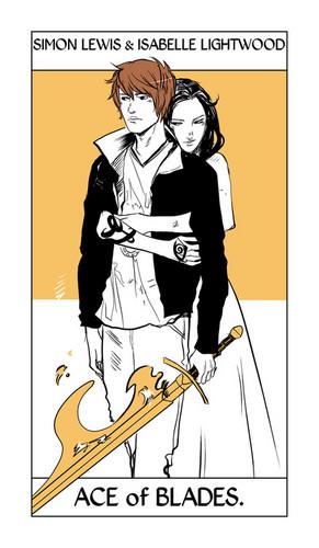 Cassandra Jean's Tarot Cards: Simon & Isabelle {Ace of Blades}.