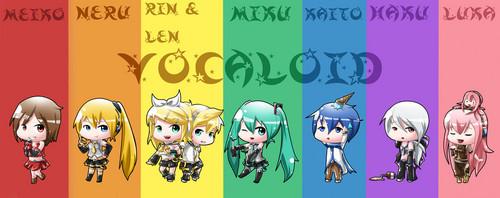 Chibi Vocaloid cầu vồng