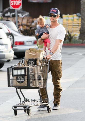 Chris Hemsworth and His Daughter
