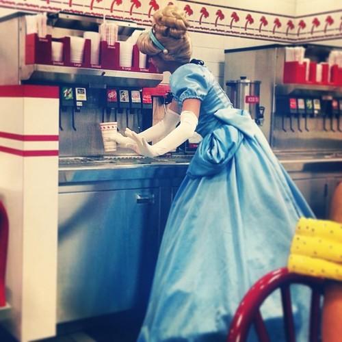 Cinderella: just getting a slushee.