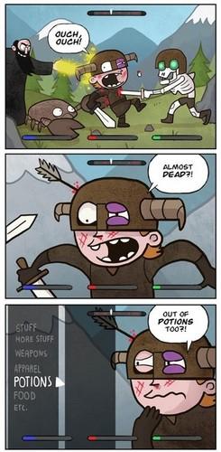 Elder Scrolls V : Skyrim karatasi la kupamba ukuta with anime titled Comics