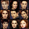 Cullens and Hale's - twilight-couples fan art