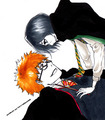 Cute art - ichigo-and-rukia-sun-and-moon fan art