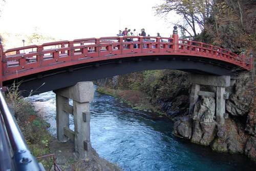 জাপান দেওয়ালপত্র titled Daiya River Bridge in Nikko, Osaka