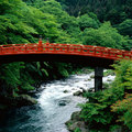 Daiya River Bridge in Nikko, Osaka - japan photo