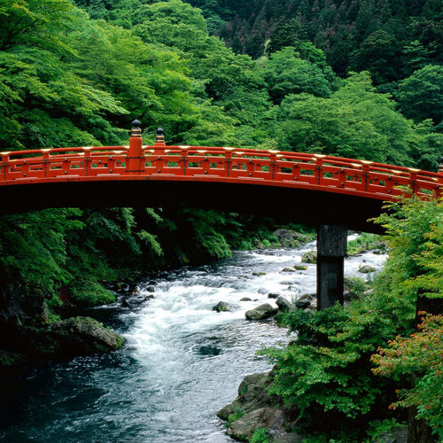 Daiya River Bridge in Nikko, Osaka