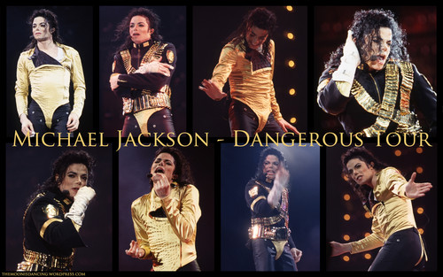 Michael Jackson wallpaper with a concert titled Dangerous
