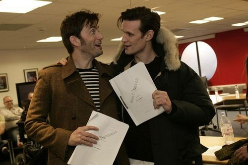 David and Matt in 50th Anniversary Read-Through!