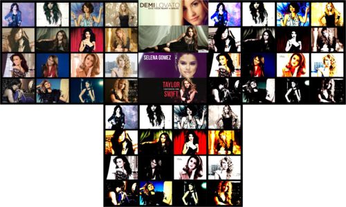 Demi , Miley , Selena , Taylor