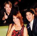Dianna, Chord &amp; Darren  - glee photo