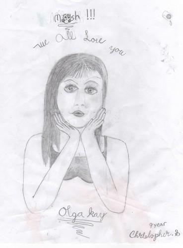 Drawing 由 9 年 old of Olga Kay