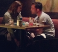 Ed dining with a mysterious woman  - ed-westwick photo