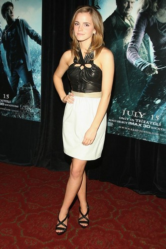 Emma at the Harry Potter and the Deathly Hallows event.