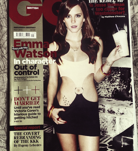 Emma on the cover of GQ (May 2013)