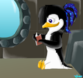 Emma reading. :3 - emma-the-penguin photo