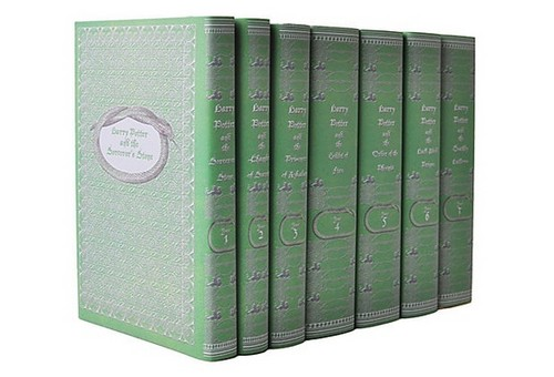 Entire HP Book Set - Juniper libri Slytherin Version