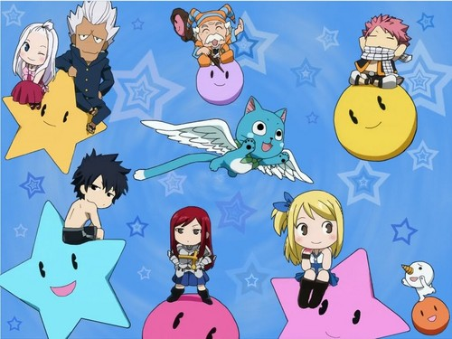 kawaii anime fondo de pantalla containing anime titled Fairy Tail chibi