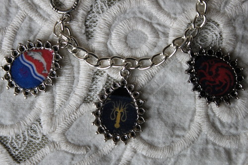 GAME OF THRONES HOUSE SIGILS charm bracelet